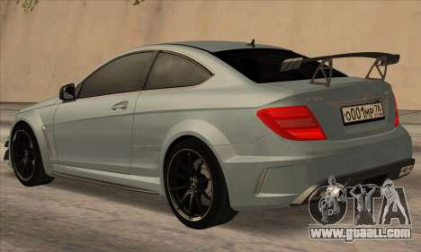Mercedes-Benz C63 AMG Black-series for GTA San Andreas