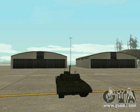T-14 Armata for GTA San Andreas inner view