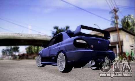 Subaru impreza WRX STi LP400 v2 for GTA San Andreas left view
