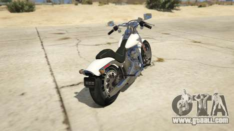 GTA 5 Harley-Davidson FXSTS Springer Softail rear left side view