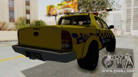 Toyota Hilux Expressway Patrol for GTA San Andreas right view