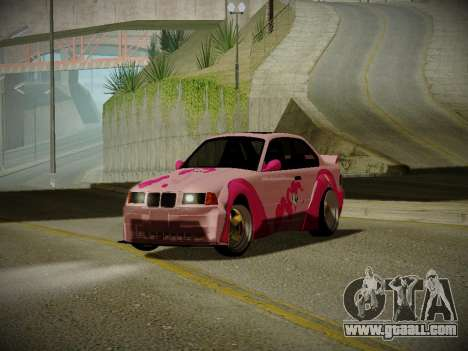 BMW M3 E36 Pinkie Pie for GTA San Andreas left view