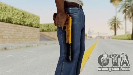 Silenced M1911 Gold for GTA San Andreas