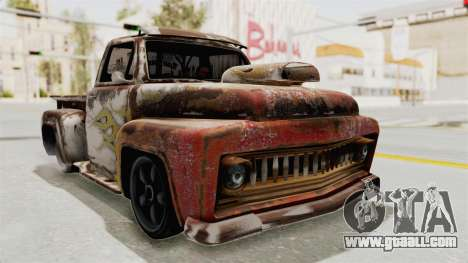 GTA 5 Slamvan Lowrider for GTA San Andreas back view