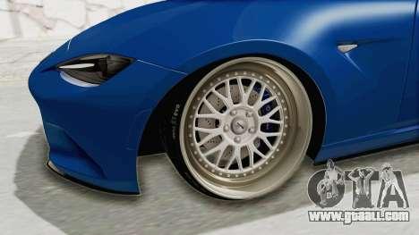 Mazda MX-5 Slammed for GTA San Andreas back view