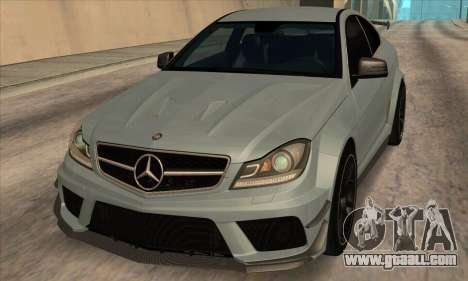 Mercedes-Benz C63 AMG Black-series for GTA San Andreas left view