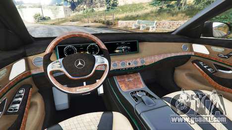 GTA 5 Mercedes-Benz S500 (W222) [michelin] v2.1 front right side view
