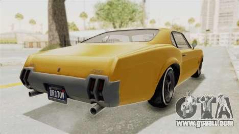 GTA 5 Declasse Sabre GT2 A IVF for GTA San Andreas back left view