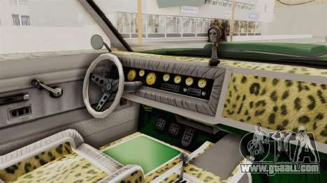GTA 5 Declasse Sabre GT2 for GTA San Andreas inner view