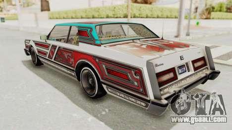 GTA 5 Dundreary Virgo Classic Custom v1 for GTA San Andreas bottom view