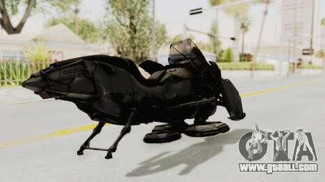 CoD Advanced Warfare - Hover Bike for GTA San Andreas back left view