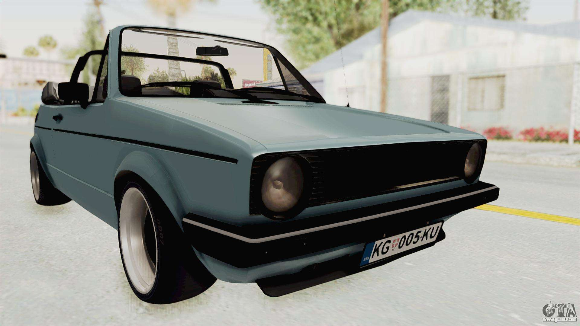 volkswagen golf 1 cabrio vr6 for gta san andreas. Black Bedroom Furniture Sets. Home Design Ideas