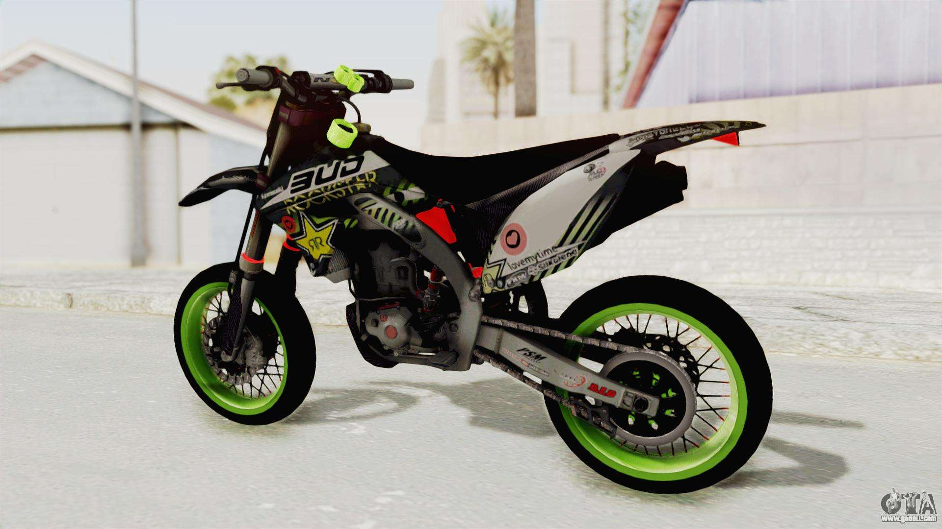Kawasaki KX 125 Supermoto For GTA San Andreas Back Left View