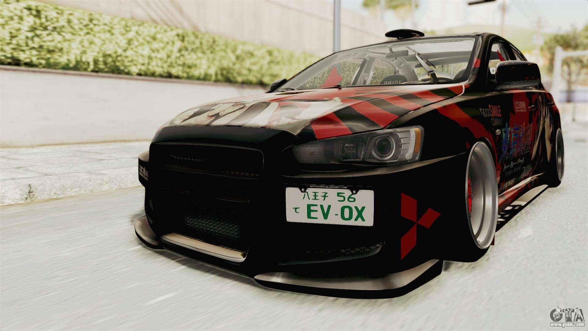 Mitsubishi lancer evolution x ken kaneki itasha