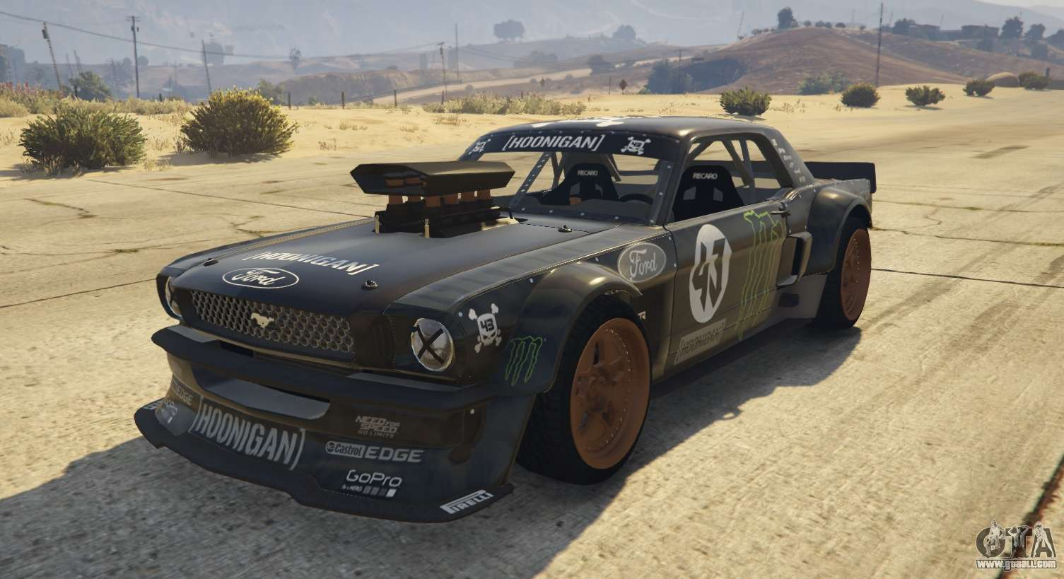 ford mustang 1965 hoonicorn 1 2 replace for gta 5. Black Bedroom Furniture Sets. Home Design Ideas