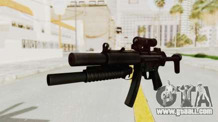 MP5SD with Grenade Launcher for GTA San Andreas