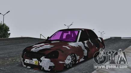 Lada Priora Camouflage for GTA San Andreas