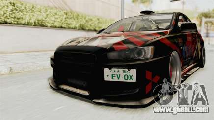 Mitsubishi Lancer Evolution X Ken Kaneki Itasha for GTA San Andreas