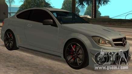 Mercedes-Benz C63 AMG Black-series for GTA San Andreas