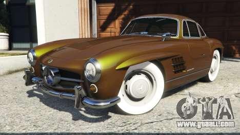 GTA 5 Mercedes-Benz 300SL Gullwing 1955 steering wheel