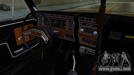 Ford Bronco 1982 Police IVF for GTA San Andreas inner view