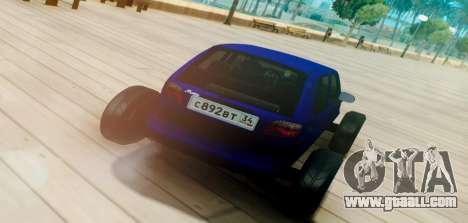 Daewoo Matiz R20 Vossen for GTA San Andreas back left view