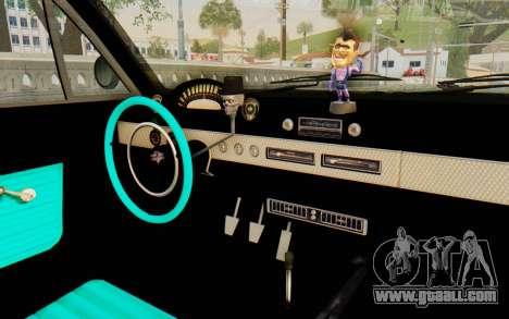 GTA 5 Declasse Voodoo SA Lights for GTA San Andreas back view