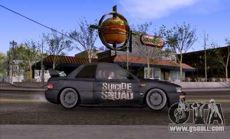 Subaru impreza 22B (SUICIDE SQUAD) for GTA San Andreas left view