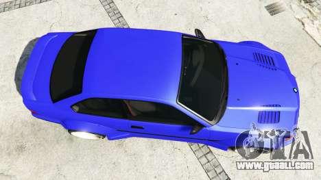 GTA 5 BMW M3 (E36) Street Custom [blue dials] v1.1 back view