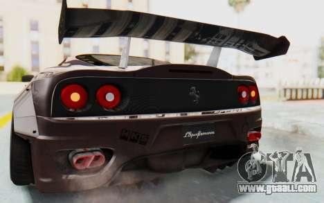 Ferrari 360 Modena Liberty Walk LB Perfomance v1 for GTA San Andreas bottom view