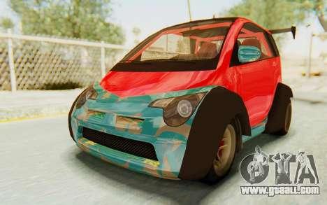 GTA 5 Benefactor Panto Custom for GTA San Andreas inner view