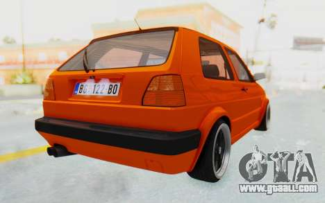Volkswagen Golf 2 GTI 1.6V for GTA San Andreas back left view