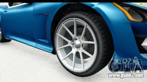 GTA 5 Lampadati Furore GT SA Lights for GTA San Andreas back view