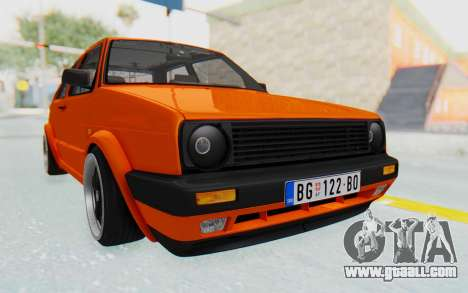 Volkswagen Golf 2 GTI 1.6V for GTA San Andreas right view