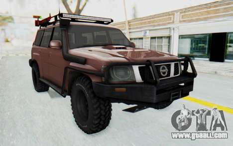 Nissan Patrol Y61 Off Road for GTA San Andreas right view