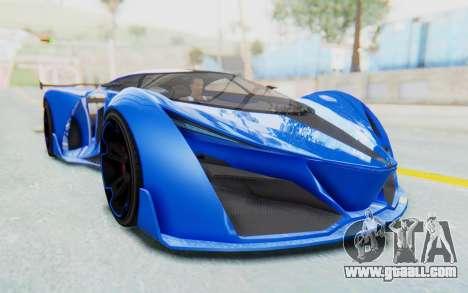 GTA 5 Grotti Prototipo v1 for GTA San Andreas right view