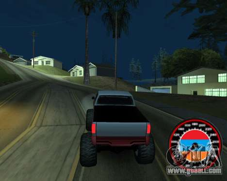 The speedometer in the style of the Armenian fla for GTA San Andreas