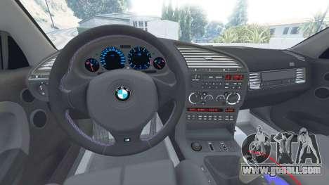 GTA 5 BMW M3 (E36) Street Custom [blue dials] v1.1 right side view