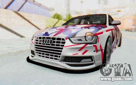 Audi S4 Avant Yurippe Angel Beats Itasha for GTA San Andreas back left view