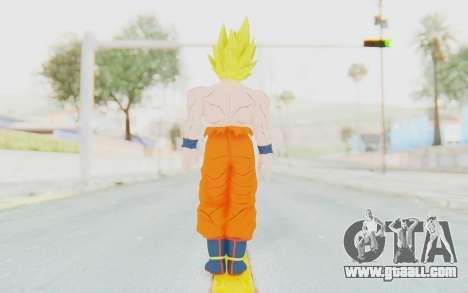 Dragon Ball Xenoverse Goku Shirtless SSJ for GTA San Andreas third screenshot