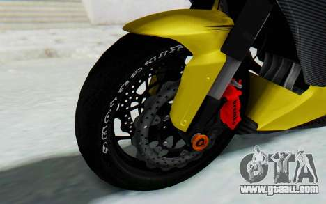 Kawasaki Ninja 250 Abs Streetrace v2 for GTA San Andreas back view