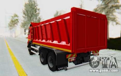 Volvo FMX 6x4 Dumper v1.0 for GTA San Andreas back left view