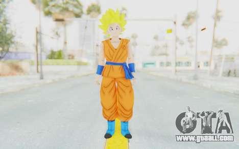 Dragon Ball Xenoverse Female Saiyan SSJ for GTA San Andreas second screenshot