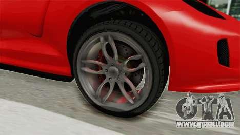 GTA 5 Grotti Bestia GTS v2 IVF for GTA San Andreas back view