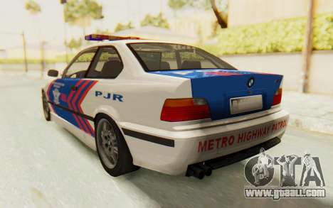 BMW M3 E36 Police Indonesia for GTA San Andreas right view