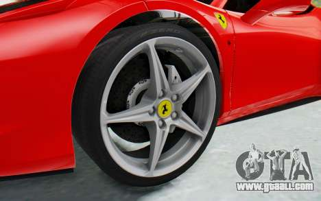 Ferrari 458 Italia F142 2010 for GTA San Andreas back view