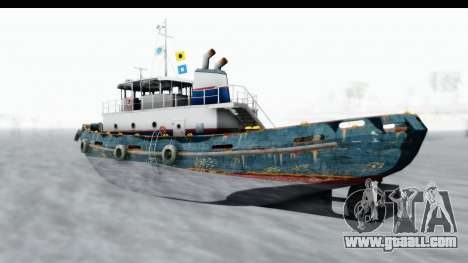 GTA 5 Buckingham Tug Boat v1 IVF for GTA San Andreas back left view