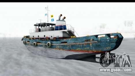GTA 5 Buckingham Tug Boat v1 IVF for GTA San Andreas back left view