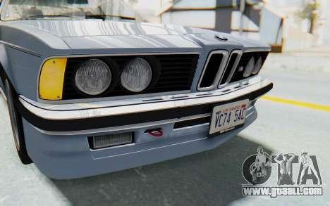 BMW M635 CSi (E24) 1984 IVF PJ1 for GTA San Andreas upper view
