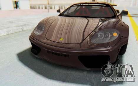 Ferrari 360 Modena Liberty Walk LB Perfomance v1 for GTA San Andreas engine
